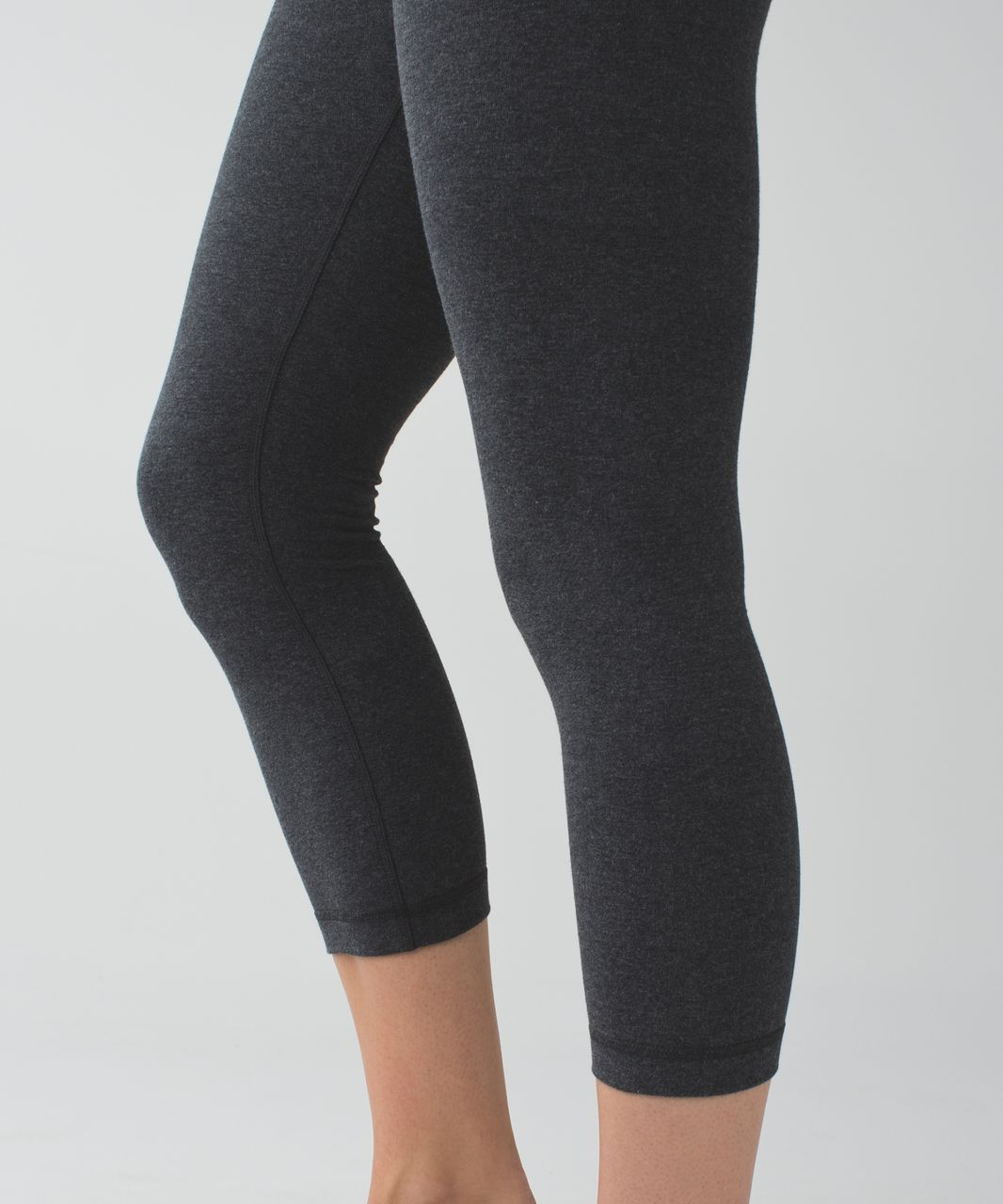 Lululemon Wunder Under Crop III - Heathered Black