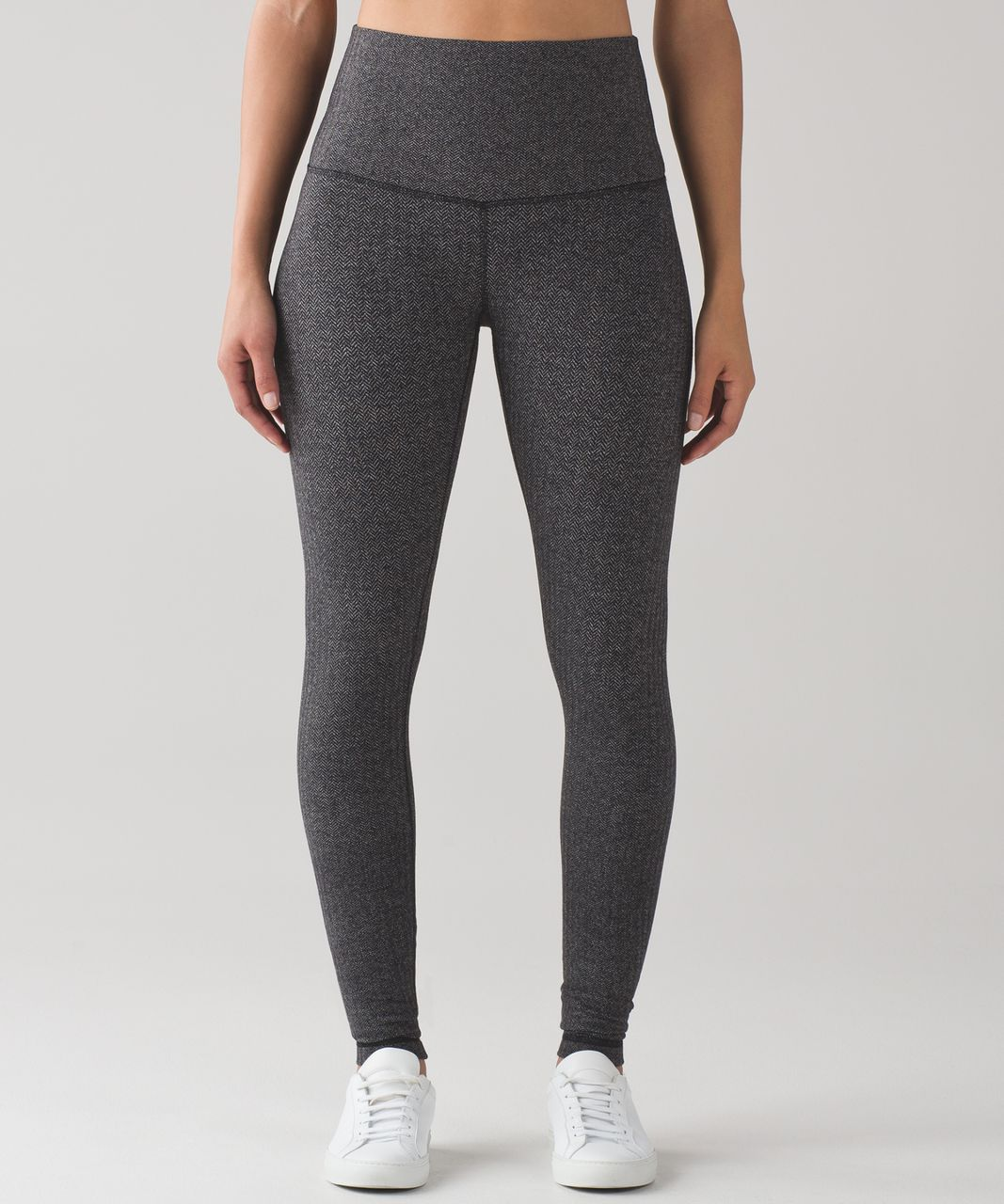 2d9351aeba Lululemon Wunder Under Pant (Hi-Rise) - Heathered Herringbone Heathered  Black Black - lulu fanatics