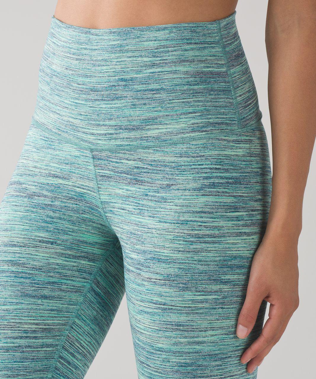Lululemon Wunder Under Pant (Hi-Rise) - Space Dye Camo Alberta Lake Fresh Teal