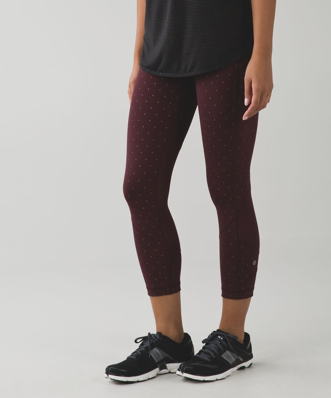 Lululemon Pace Rival Crop - Night Fall Bordeaux Drama Gold / Bordeaux Drama