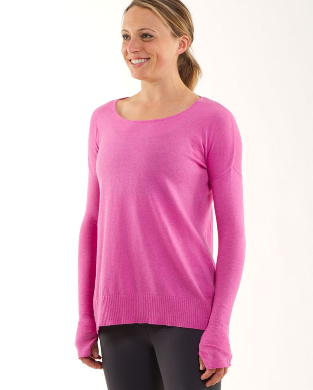 Lululemon Yoga Cozy Pullover - Heathered Smoky Rose