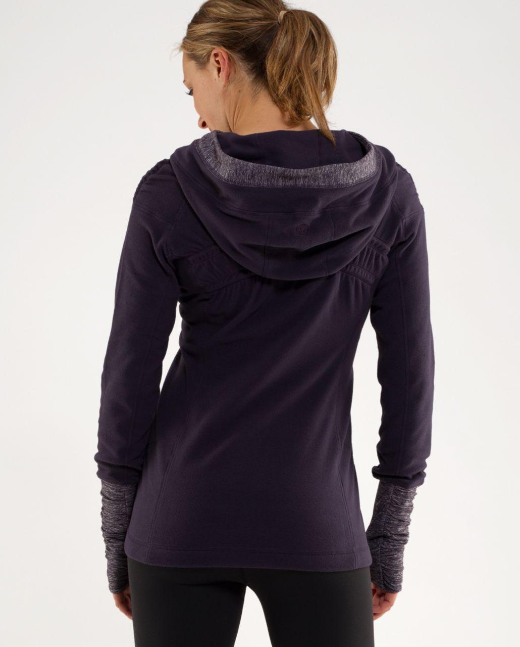Lululemon Apres Run Pullover - Black Swan / Heathered Black Swan