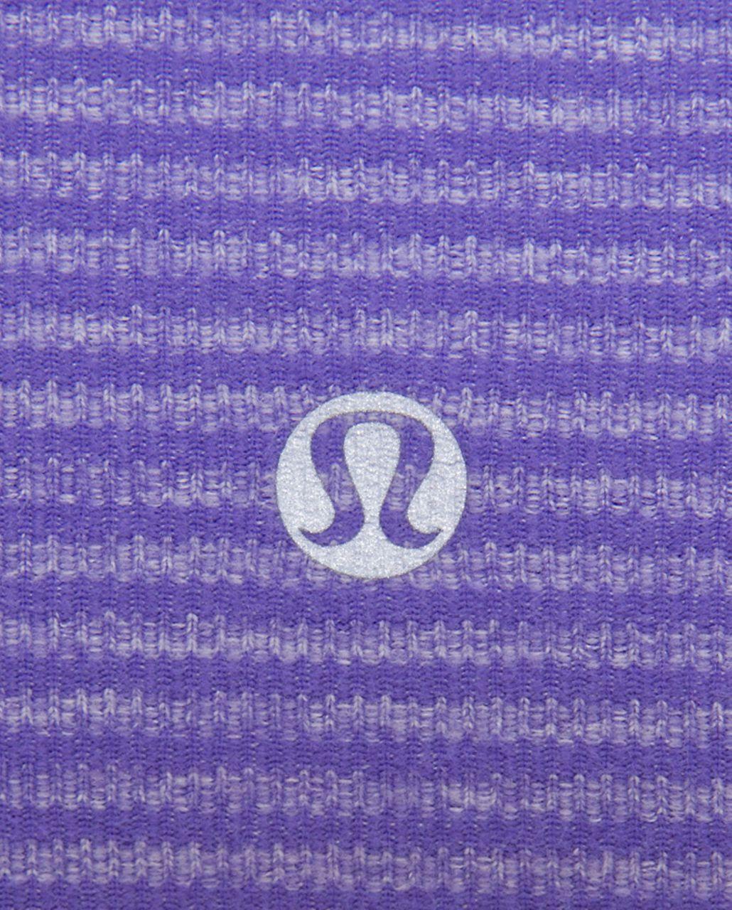 Lululemon Run: Turn Around Long Sleeve - Persian Purple Heathered Persian Mini Check /  Reflective Sparkle Splatter