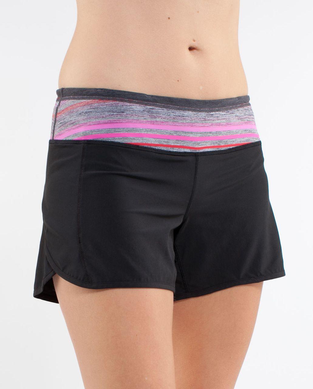 Lululemon Turbo Run Short - Black /  Current Poncho Stripe