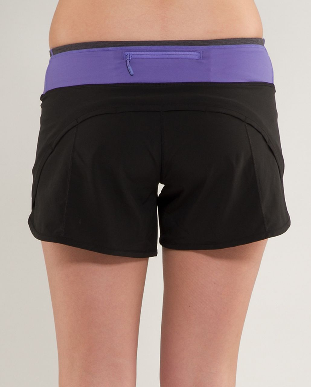 Lululemon Turbo Run Short - Black /  Persian Purple