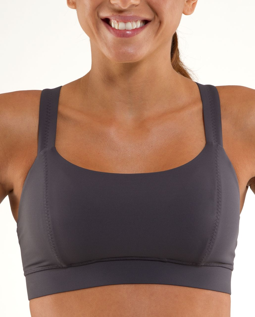 Lululemon Cross My Heart Bra - Coal