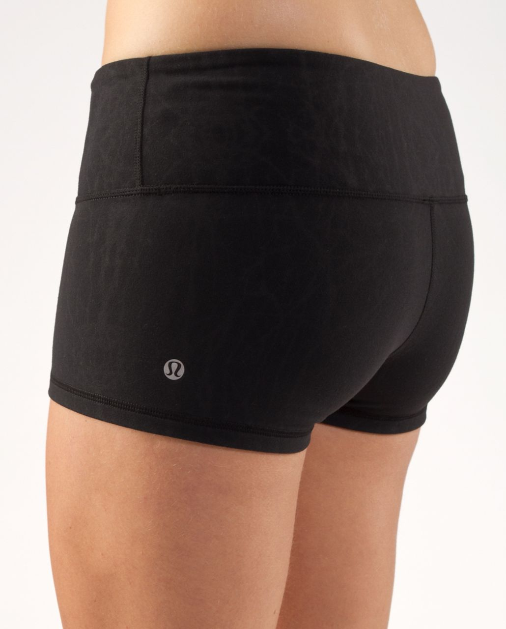 Lululemon Boogie Short - Black Nesting Black Bird Embossed