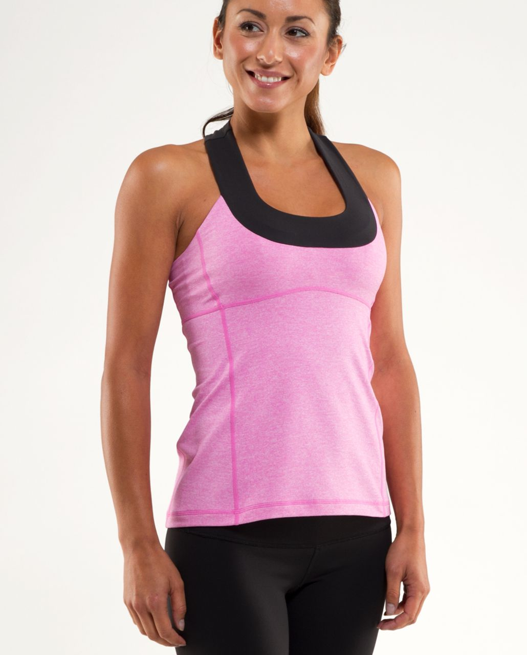 Lululemon Scoop Neck Tank - Heathered Smoky Rose /  Deep Coal