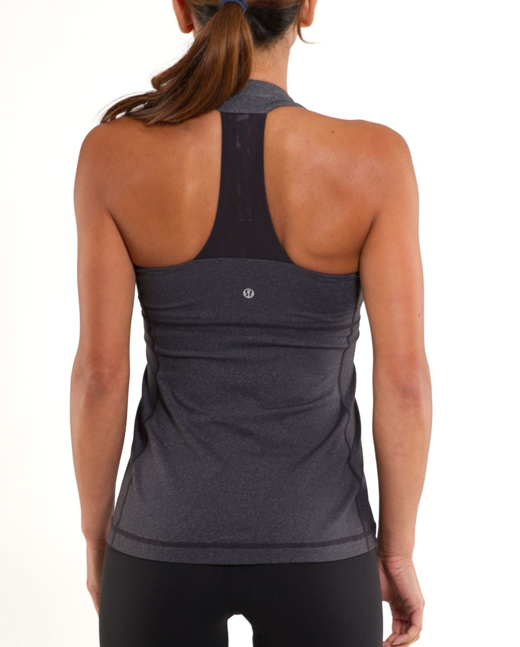 Lululemon Scoop Neck Tank - Deep Coal Heathered Coal Wee Stripe /  Deep Coal
