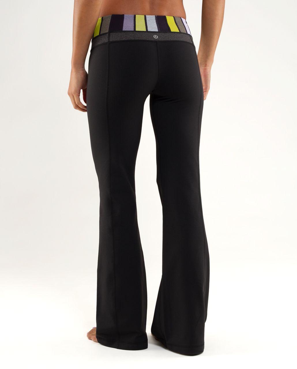 Lululemon Groove Pant (Regular) - Black /  Quilting Winter 1 /  Black Swan Heathered Black Herringbone