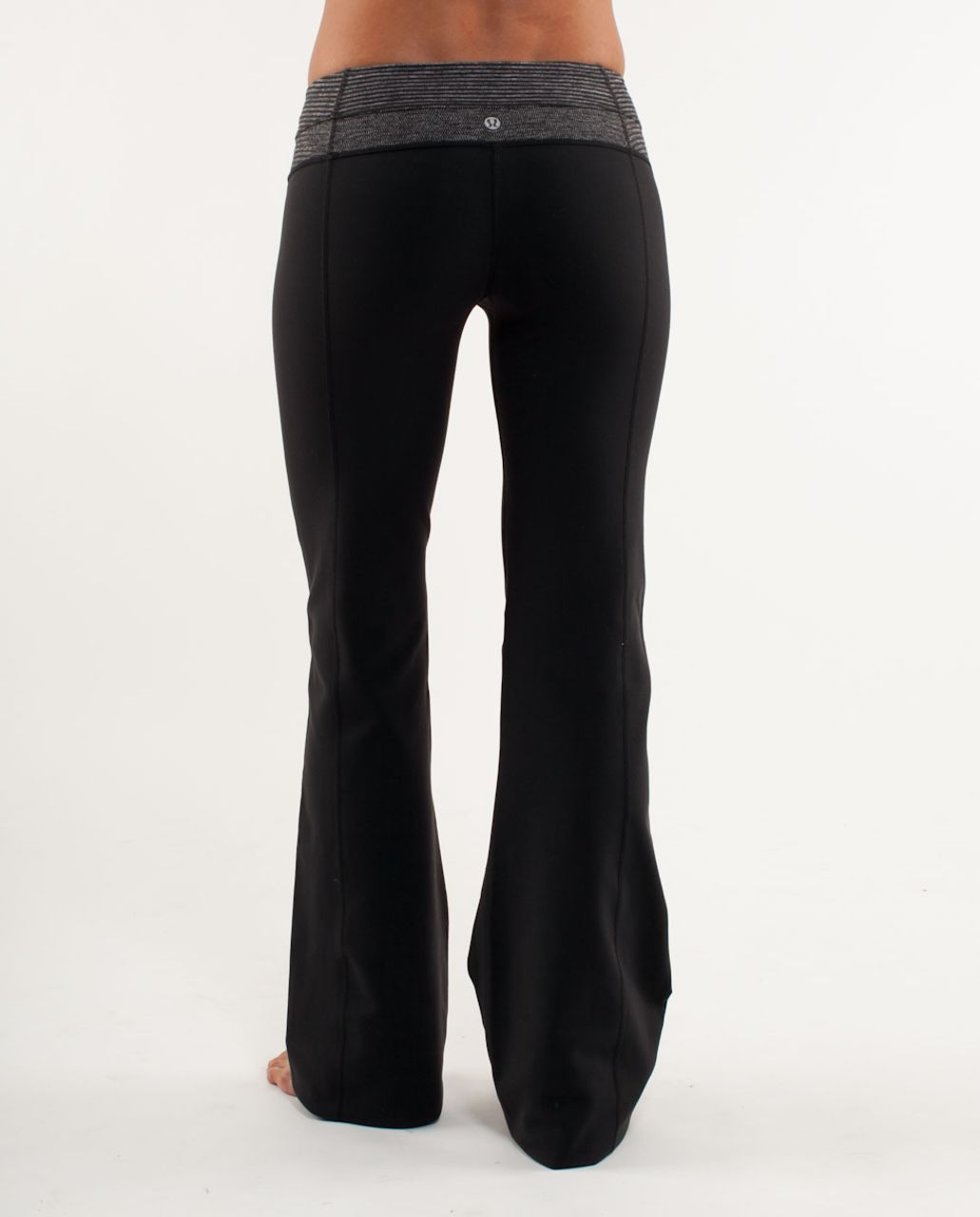 Lululemon Groove Pant (Regular) - Black /  Black Heathered Coal Mini Check