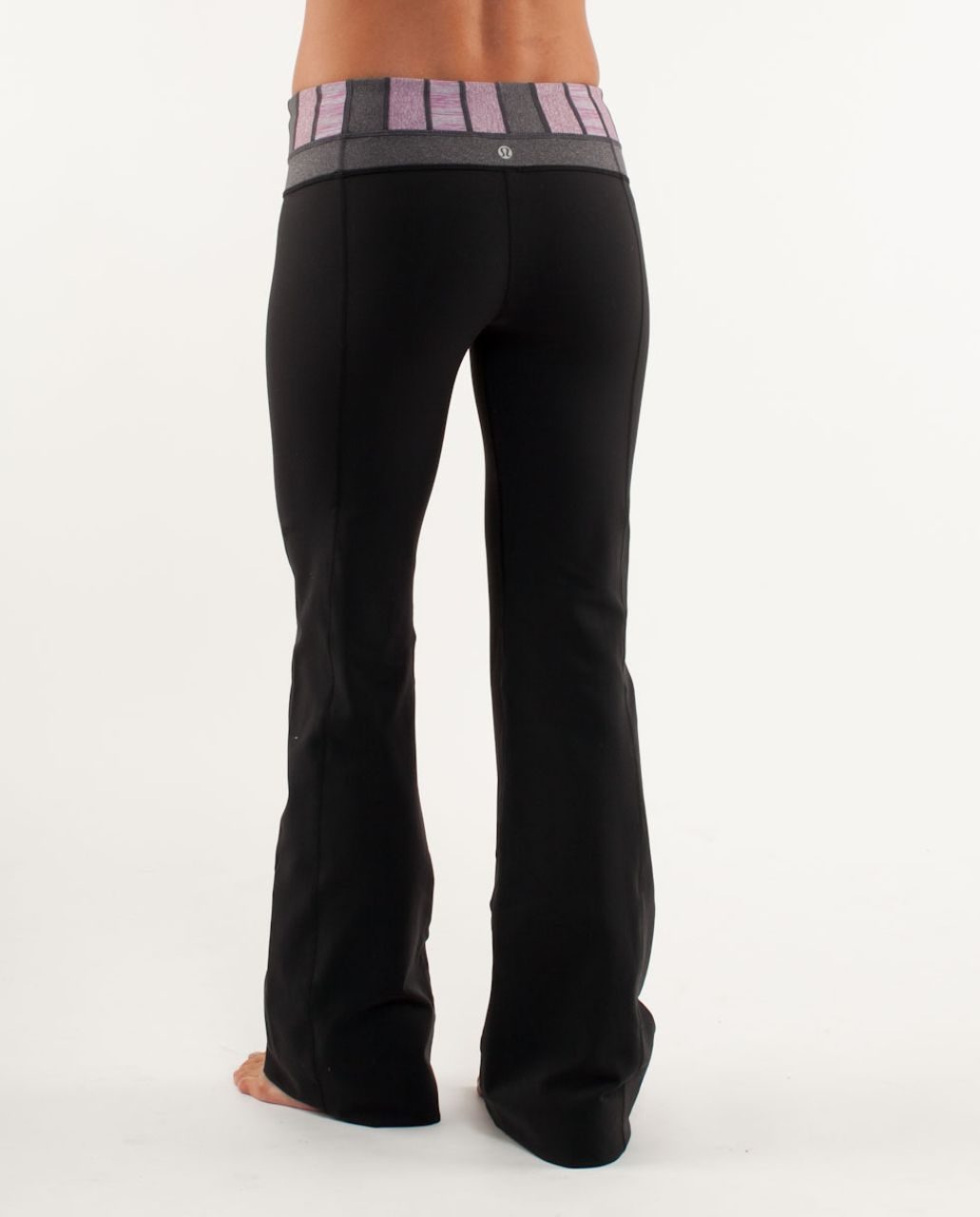 Lululemon Groove Pant (Regular) - Black /  Quilt 20 /  Heathered Coal
