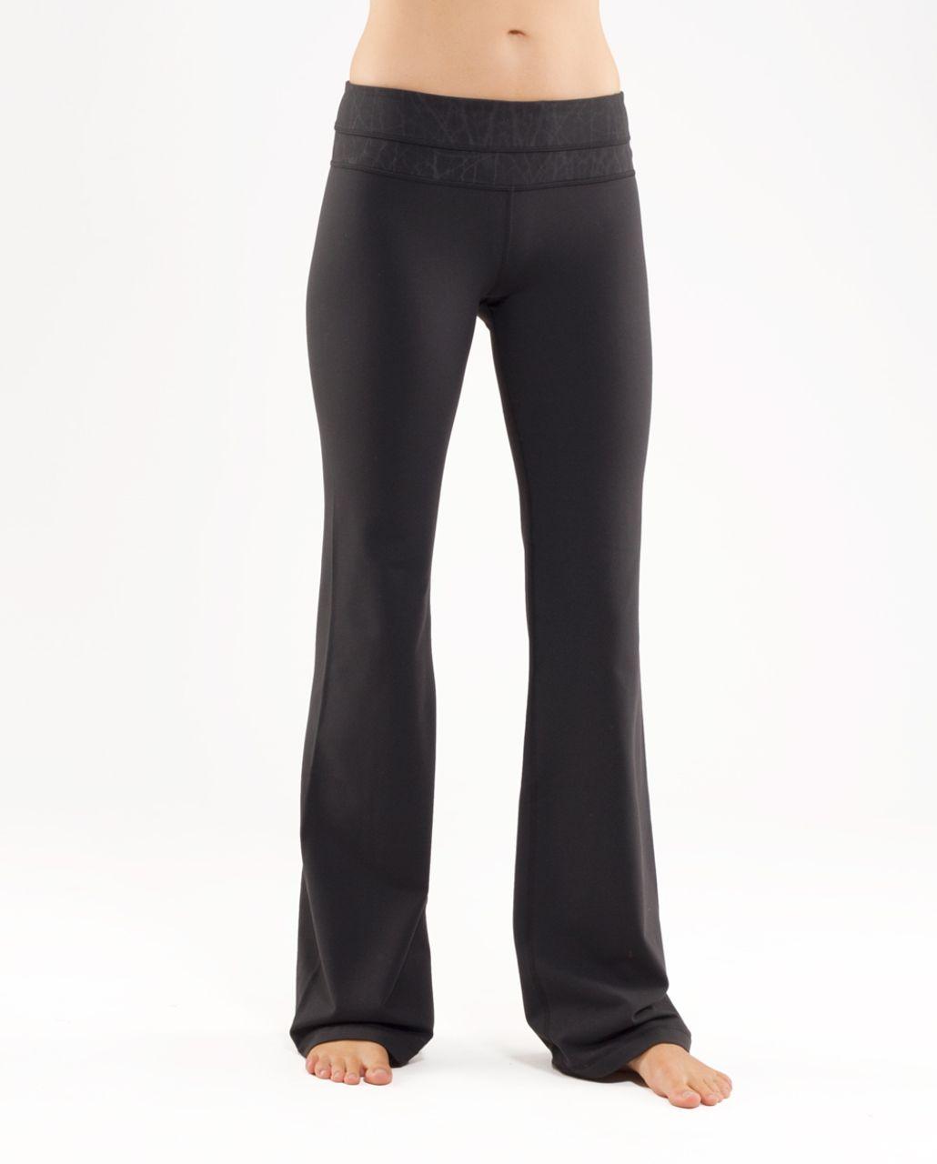 Lululemon Groove Pant (Regular) - Black /  Black Nesting Black Bird Print