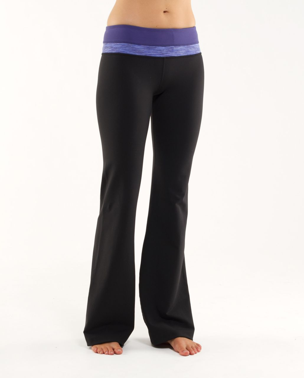 Lululemon Groove Pant (Regular) - Black /  Royalty /  Royalty Space Dye