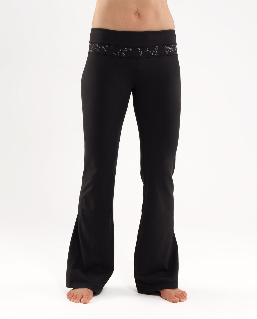 Lululemon Groove Pant (Regular) - Black /  Silver Pitter Patter Reflective