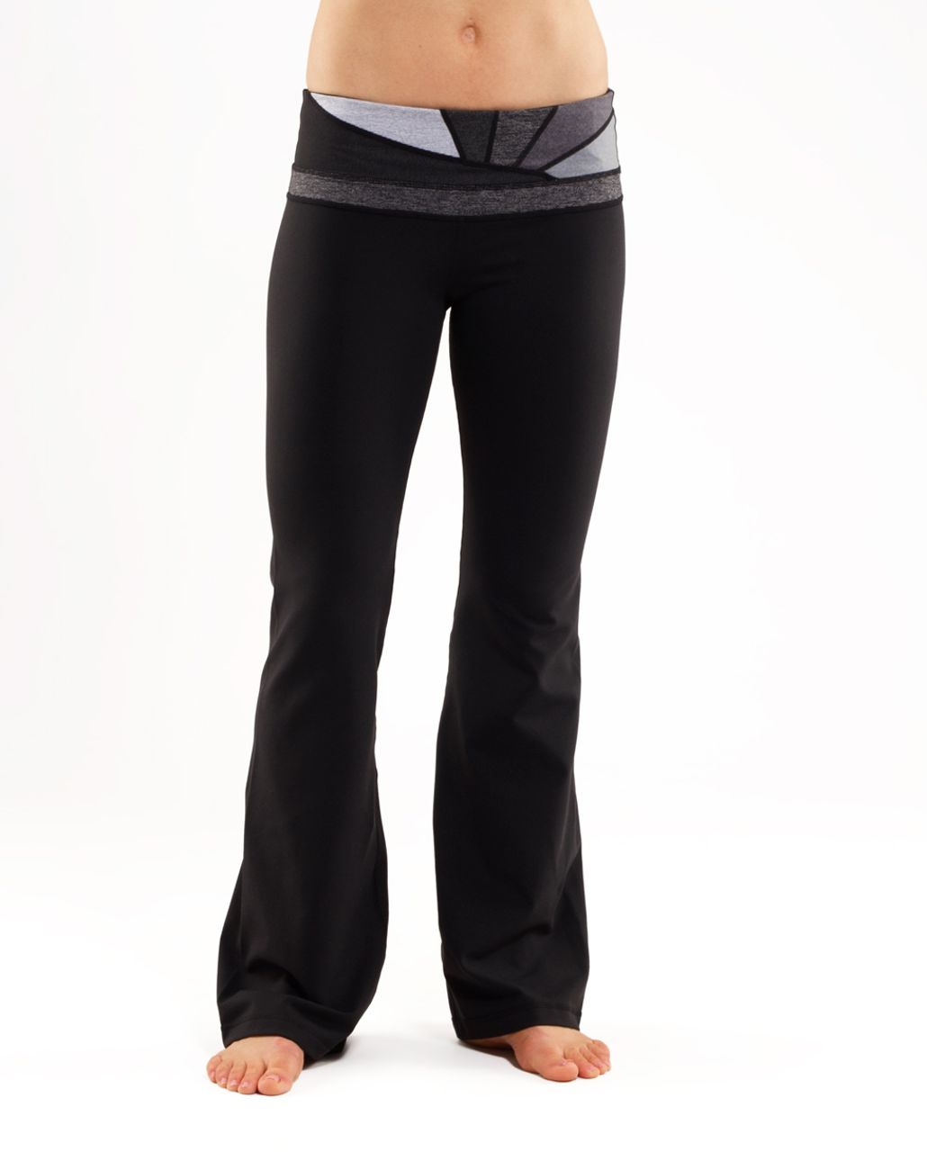 Lululemon Groove Pant (Regular) - Black /  Quilt 25 /  Coal Wee Stripe