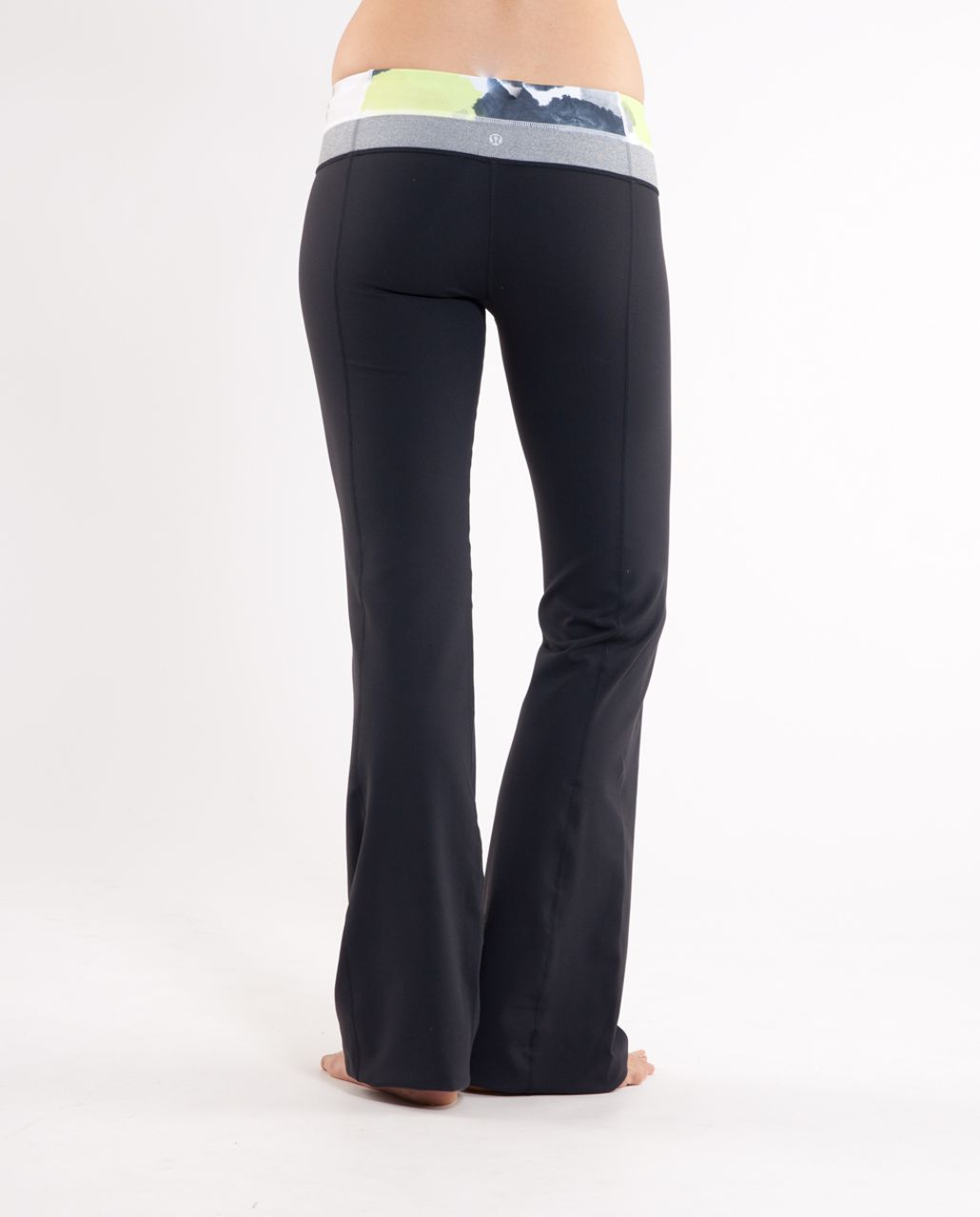Lululemon Groove Pant (Regular) - Black /  Black Citron Tinted Canvas Super /  Heathered Blurred Grey