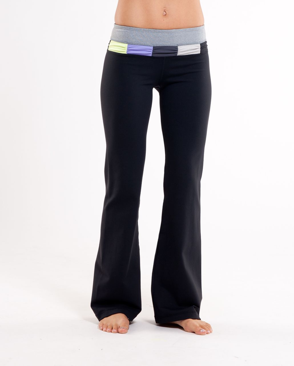 Lululemon Groove Pant (Regular) - Black /  Heathered Blurred Grey /  Quilt Summer 10