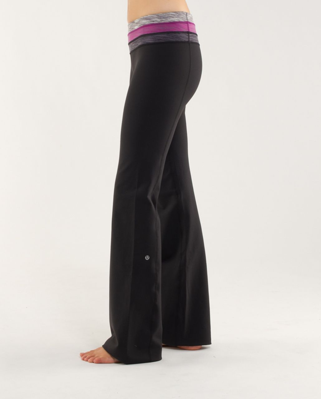 Lululemon Groove Pant (Regular) - Black /  Magnum Space Dye /  Dew Berry Space Dye