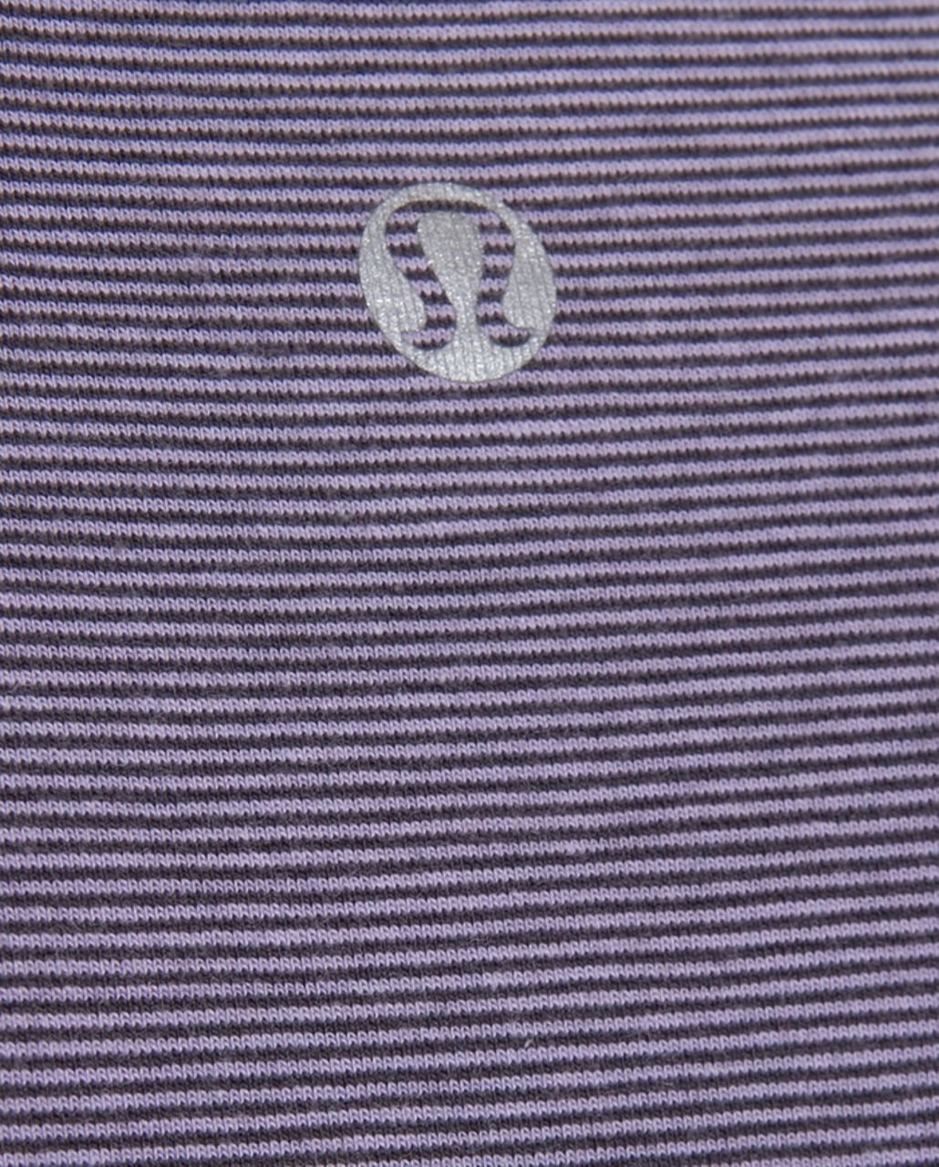 Lululemon Lively Crewneck Tee *Vitasea - Lilac Heathered Coal Wee Stripe