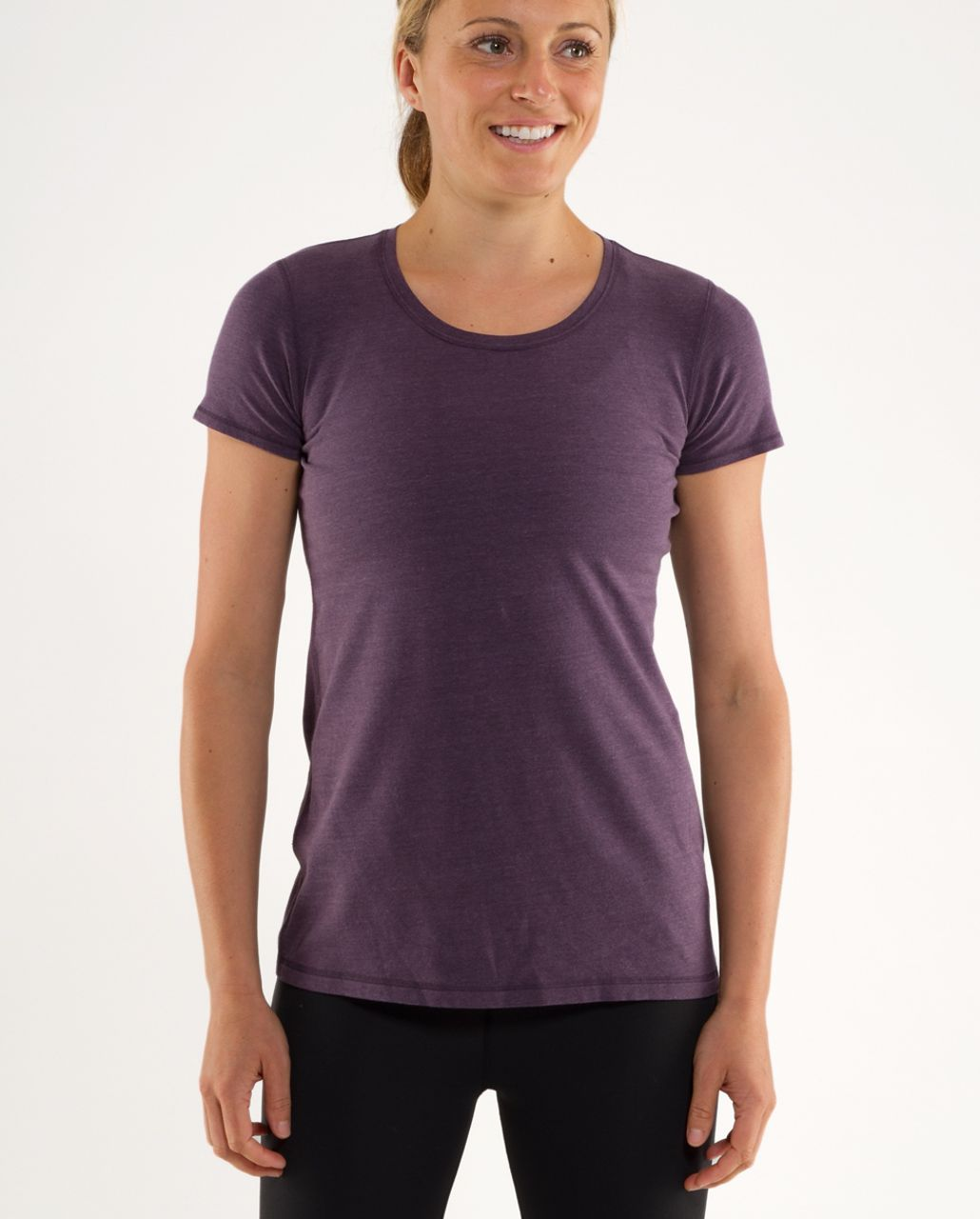 Lululemon Lively Crewneck Tee *Vitasea - Heathered Black Swan