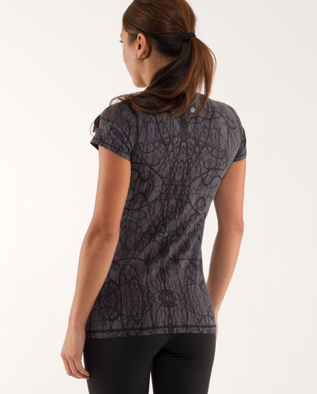 Lululemon Lively Crewneck Tee *Vitasea - Coal Ground Nesting Black Bird