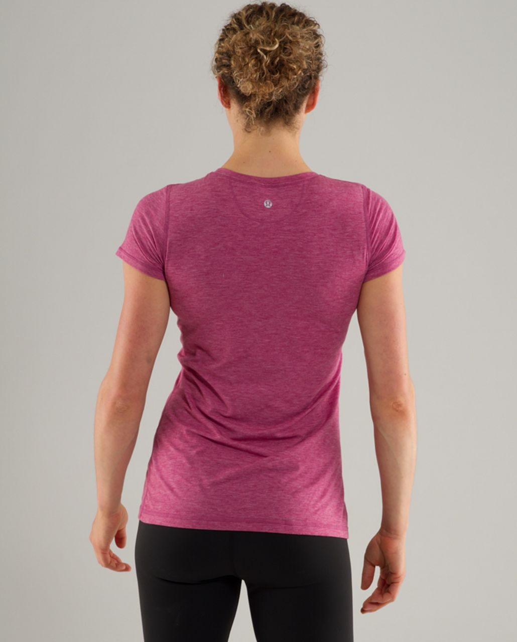 Lululemon Lively Crewneck Tee *Vitasea - Heathered Raspberry
