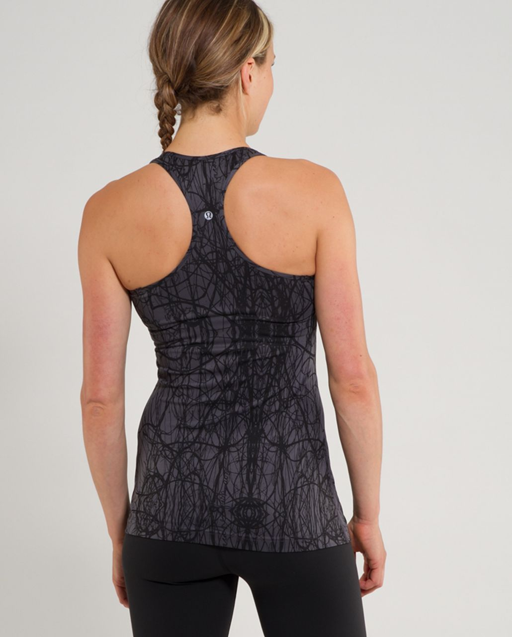 Lululemon Cool Racerback - Coal Ground Nesting Black Bird
