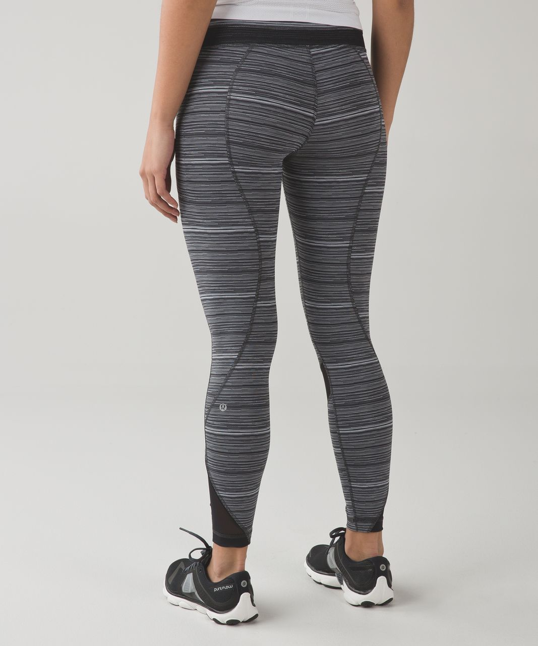 Lululemon Inspire Tight II (Mesh) - Cyber Black Deep Coal / Black