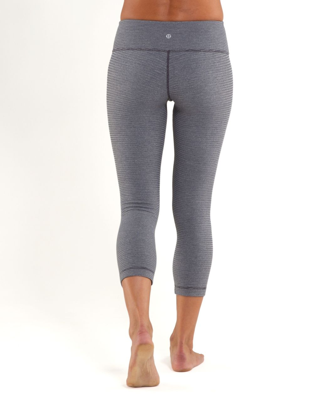 Lululemon Wunder Under Crop *Reversible - Blurred Grey Mini Check