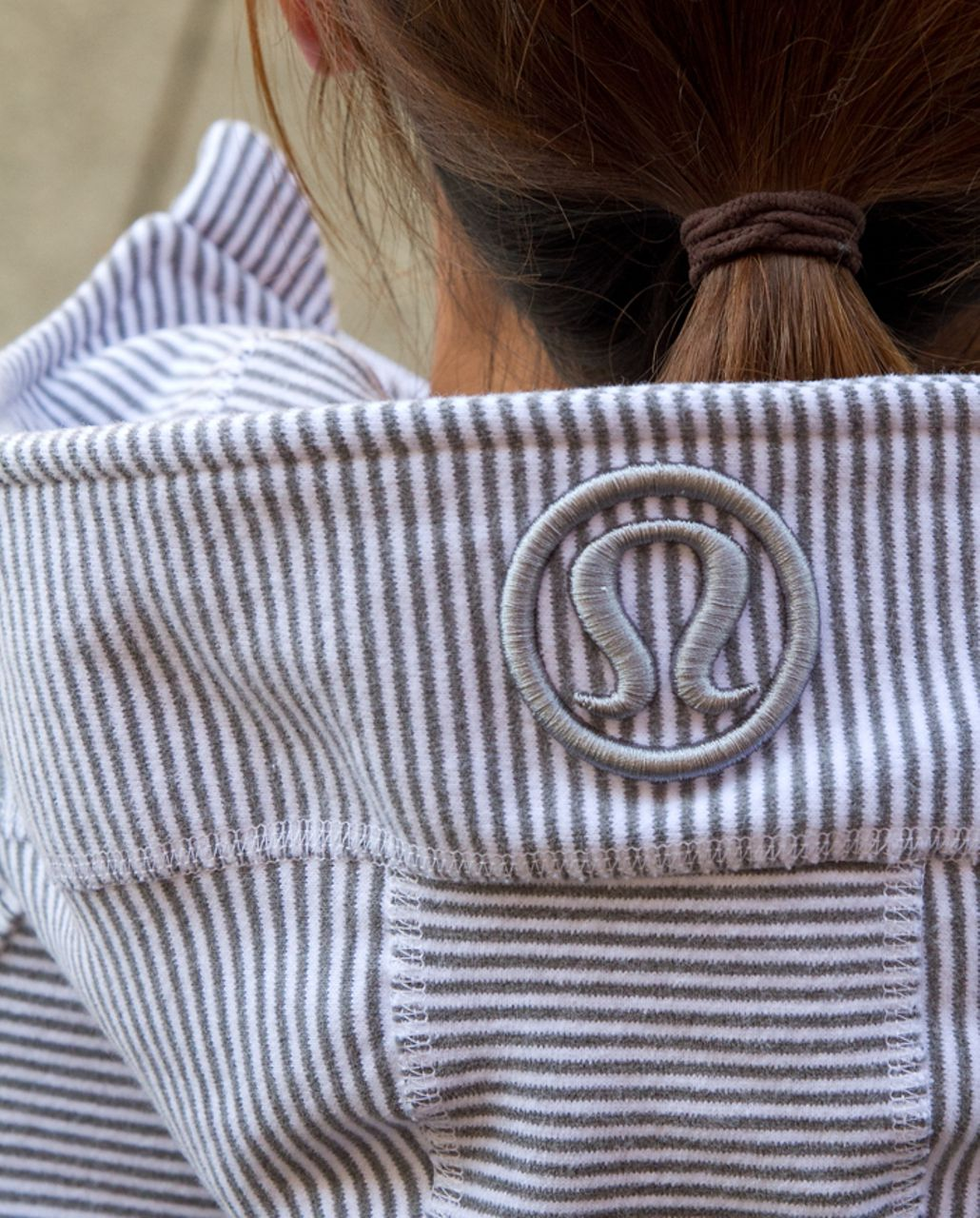 Lululemon Scuba Hoodie *Stripe - White Heathered Blurred Grey Classic Stripe