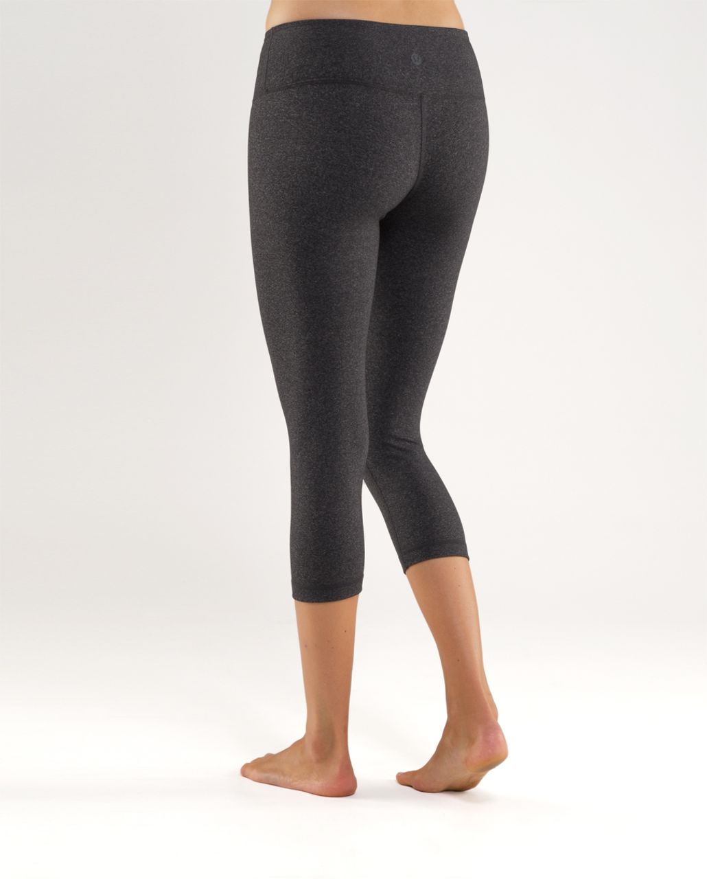 Lululemon Wunder Under Crop - Heathered Black