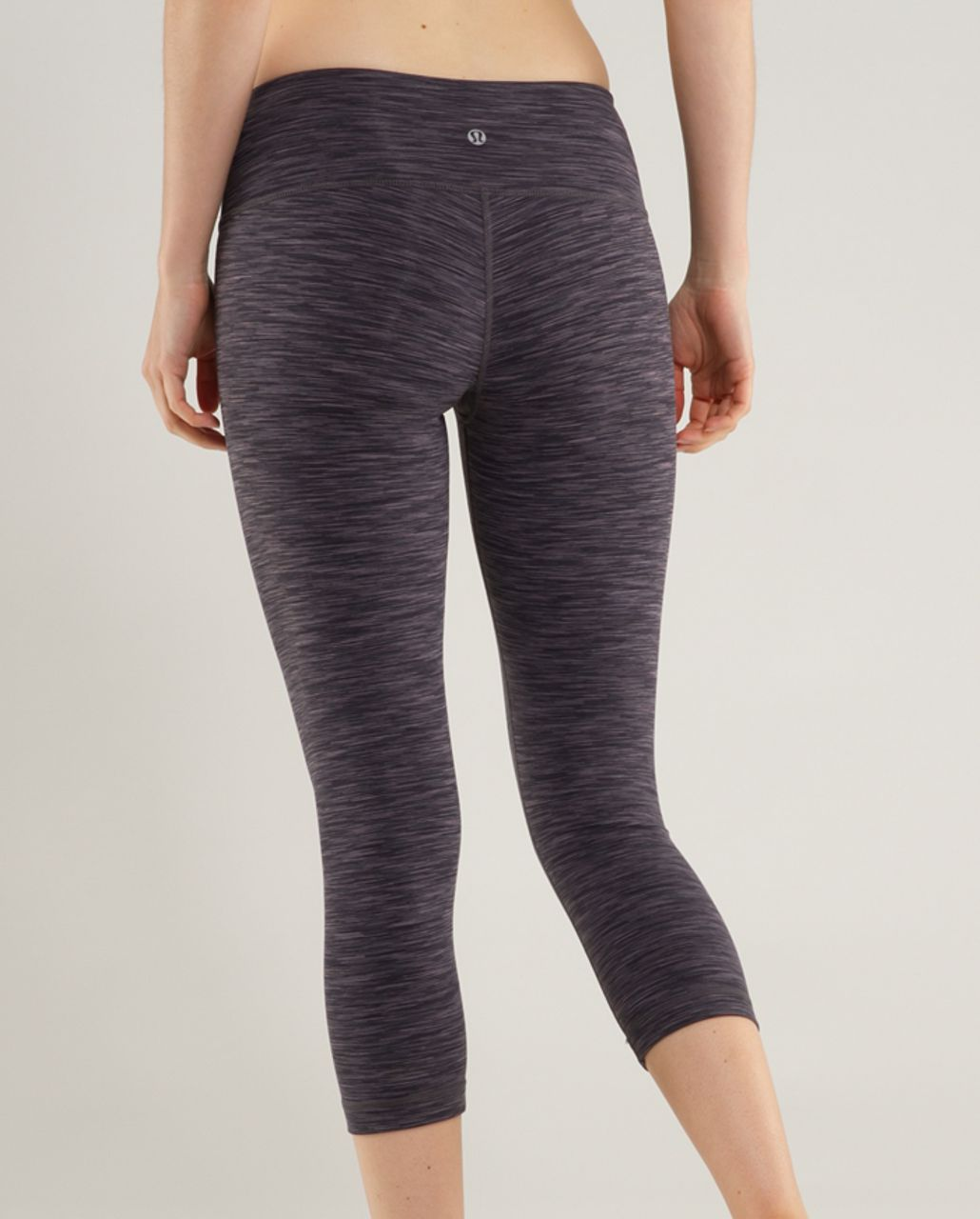 Lululemon Wunder Under Crop - Black Space Dye /  Black