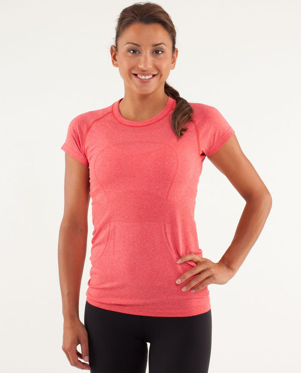 Lululemon Run:  Swiftly Tech Short Sleeve - Currant