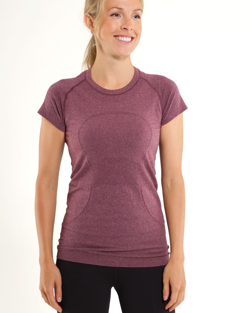 Lululemon Run:  Swiftly Tech Short Sleeve - Plum