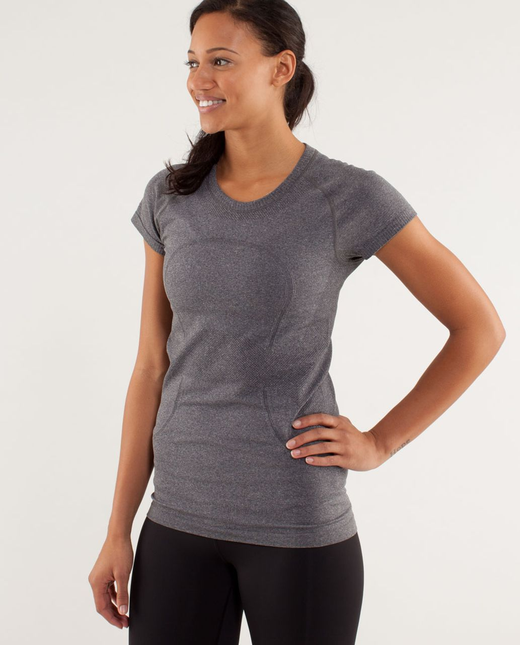 Lululemon Run:  Swiftly Tech Short Sleeve - Black