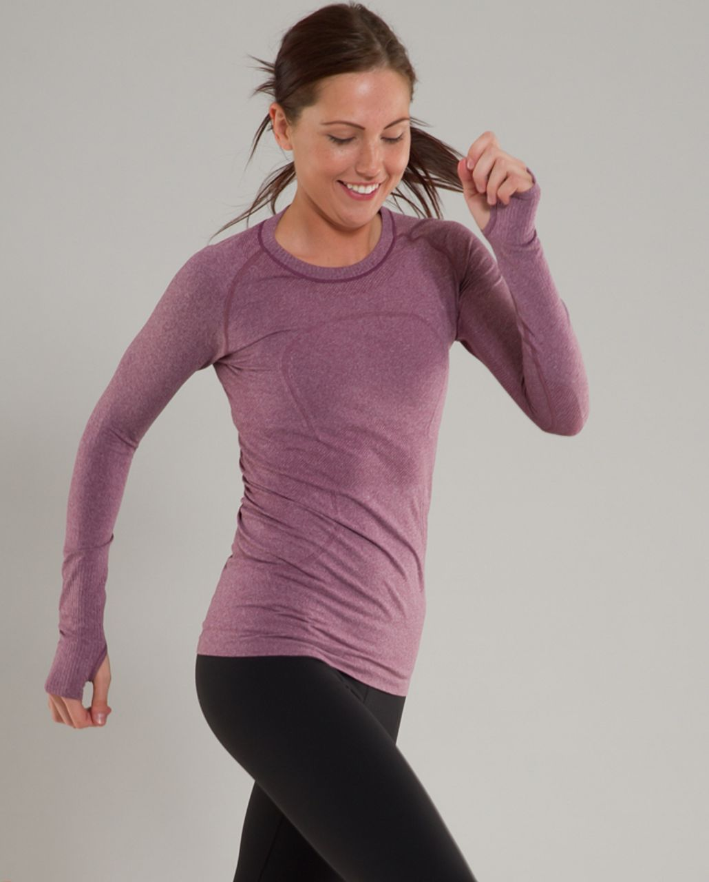 Lululemon Run:  Swiftly Tech Long Sleeve - Muted Mauve