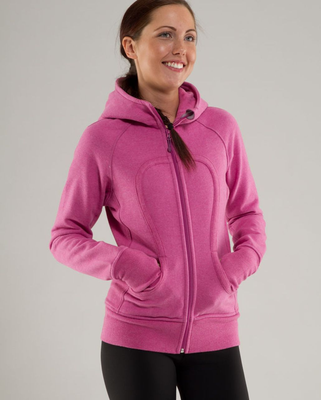 Lululemon Scuba Hoodie - Heathered Rose Petal /  Lavender Grey