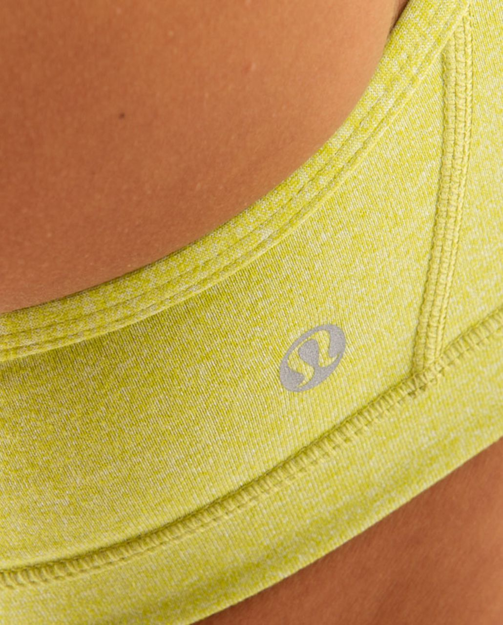 Lululemon Flow Y Bra IV - Heathered Tree Frog /  Tree Frog