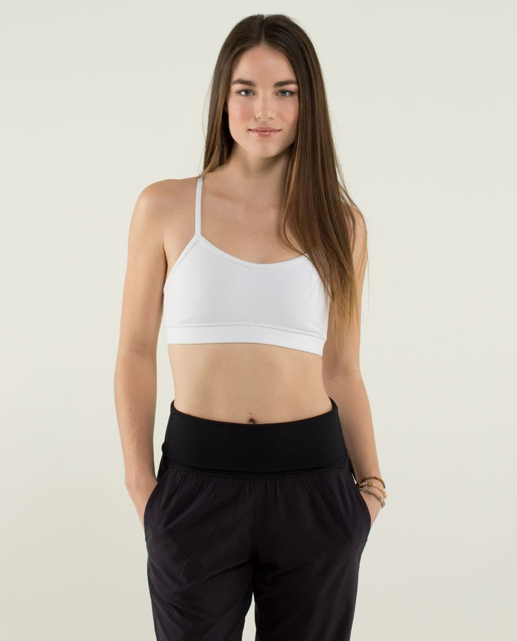 Lululemon Flow Y Bra IV - White (First Release)