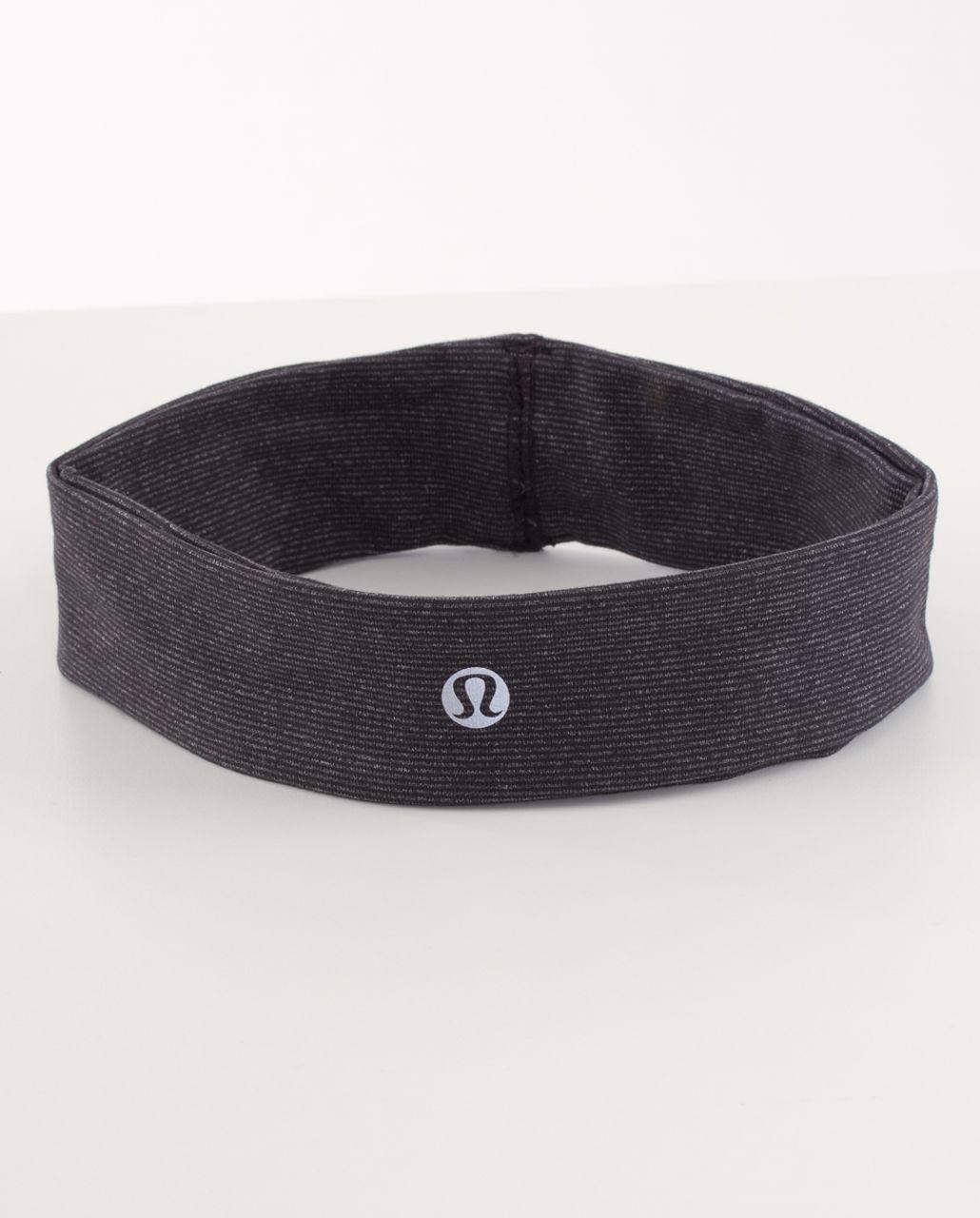 Lululemon Lucky Luon Headband - Deep Coal Heathered Coal Wee Stripe