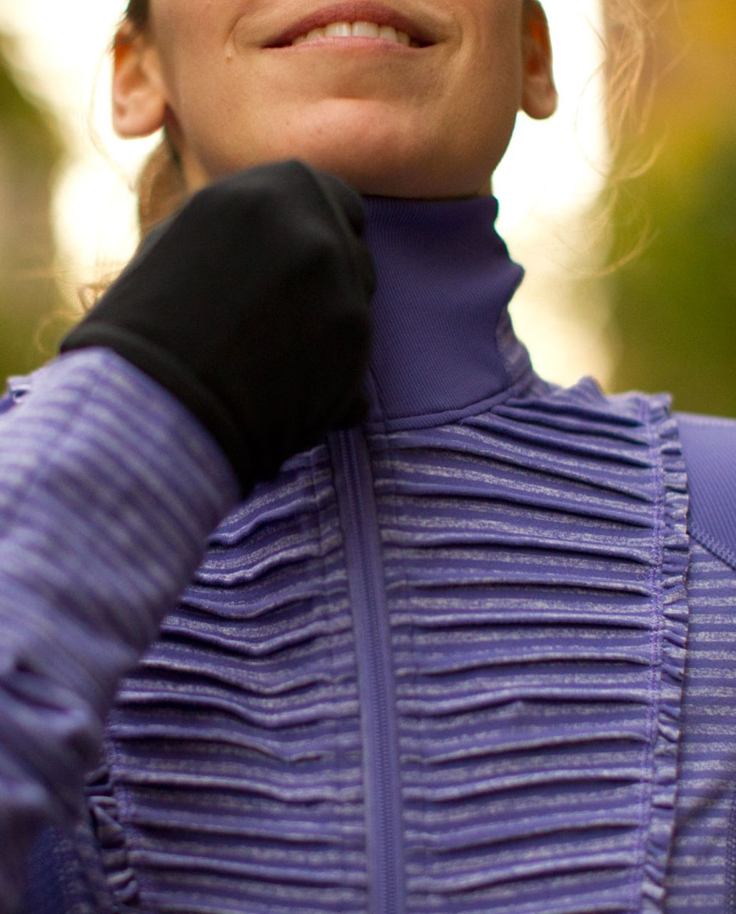 Lululemon Run:  Your Heart Out Pullover - Persian Purple Heathered Persian Purple Classic Stripe