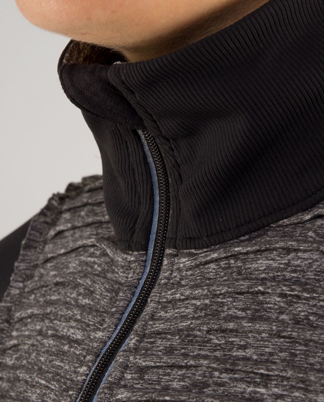 Lululemon Run:  Your Heart Out Pullover (First Release) - Heathered Black