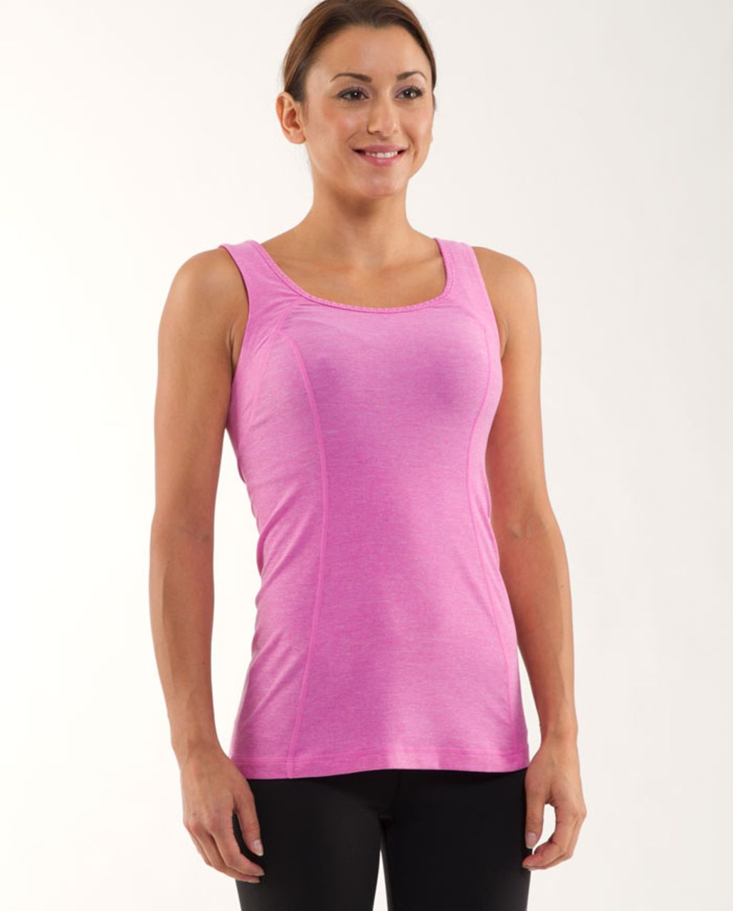 Lululemon Run Free Tank - Heathered Smoky Rose