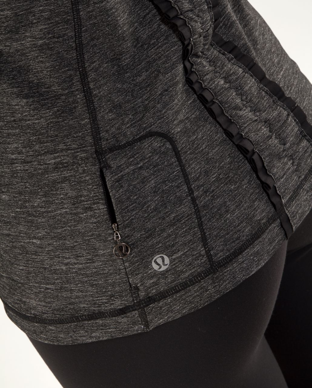 Lululemon Run Free Tank - Heathered Black