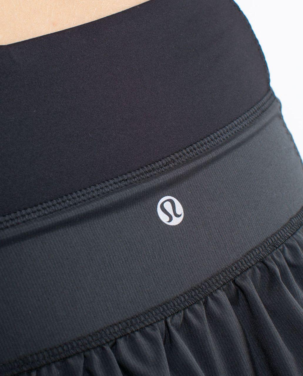Lululemon Run:  Your Heart Out Skirt - Black Black Teeny Stripe /  Black /  Black Echo Stripe
