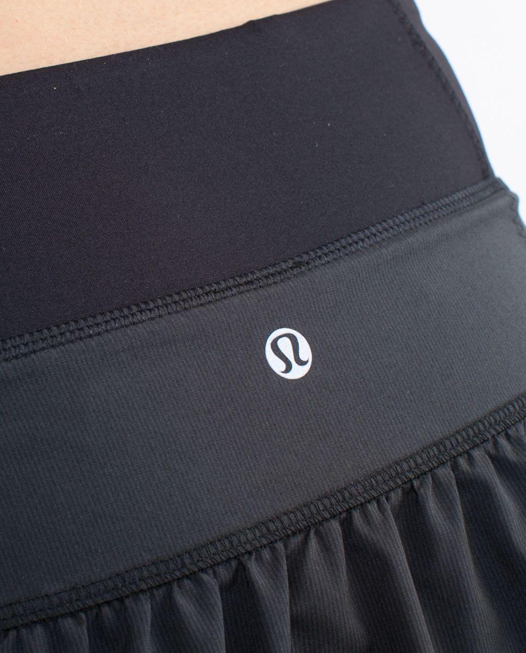 Lululemon Run:  Your Heart Out Skirt - Black Black Teeny Stripe /  Black /  Make Davie Run Crazy Print