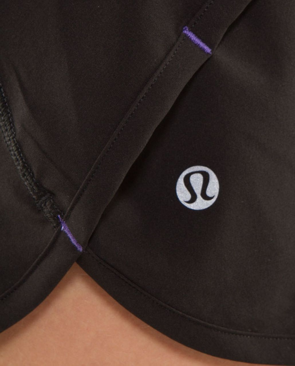 Lululemon Run:  Speed Short - Black /  Persian Purple