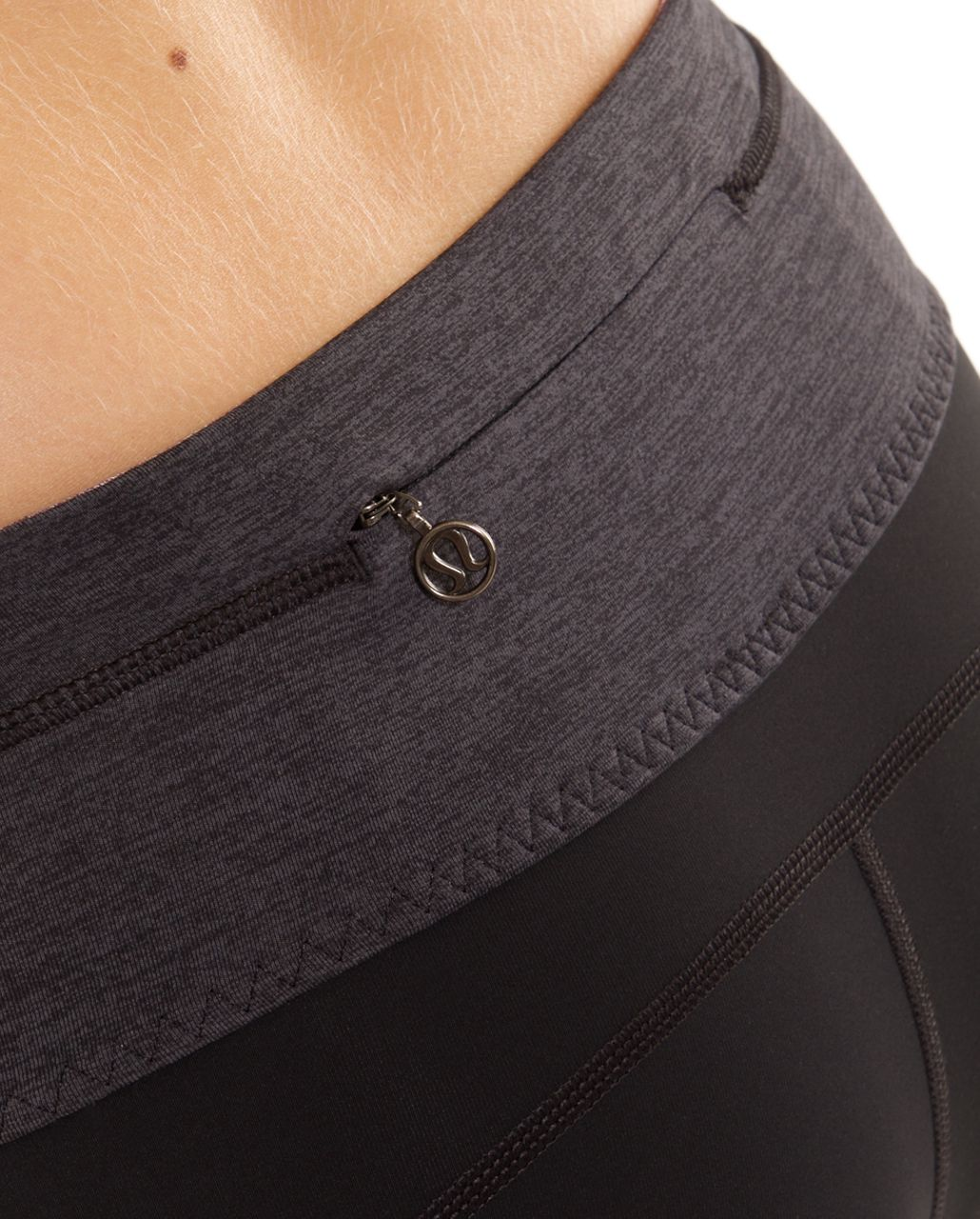 Lululemon Run:  Your Heart Out Crop - Black /  Heathered Black /  Currant Poncho Stripe