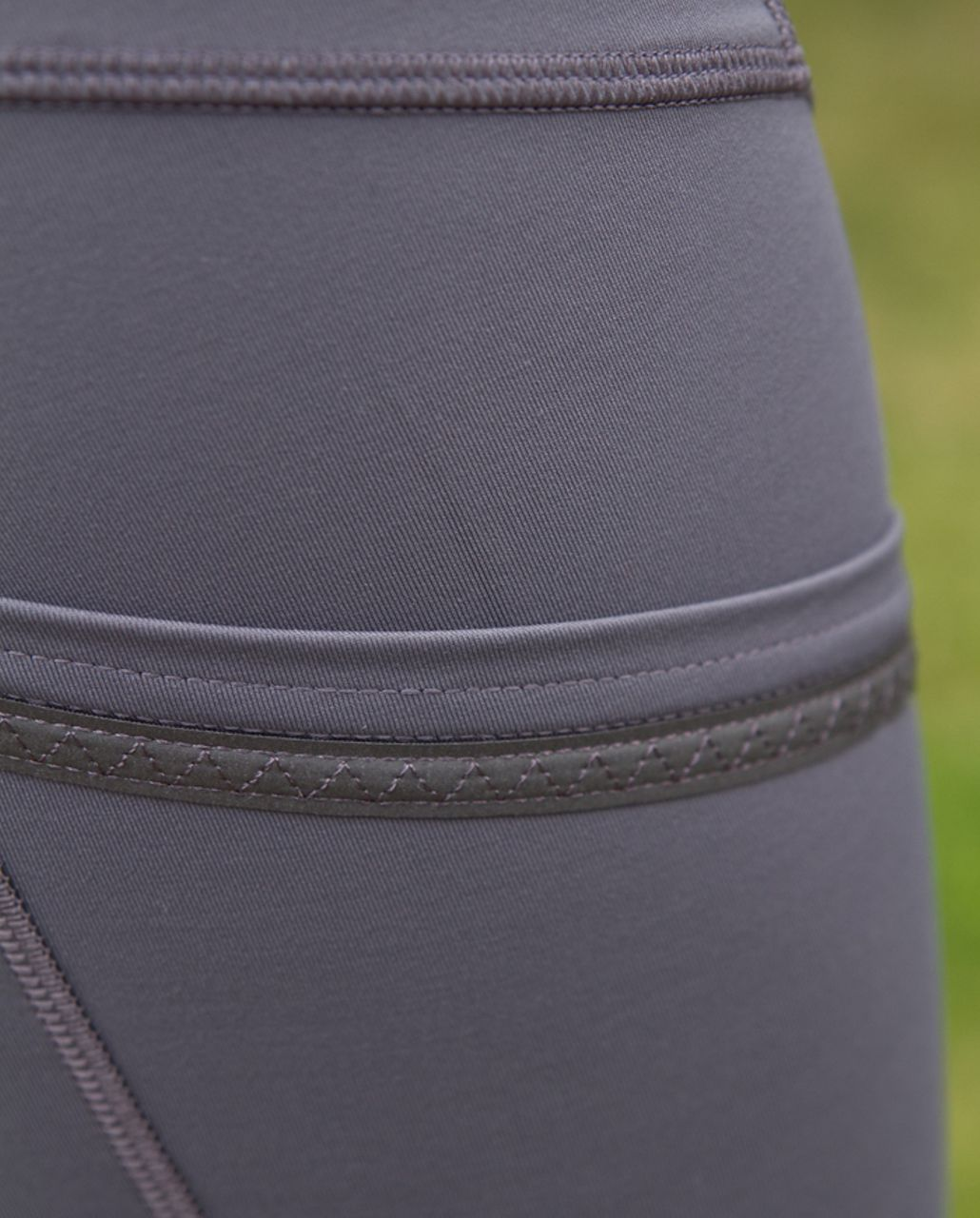 Lululemon Run:  Your Heart Out Crop - Coal /  White Heathered Blurred Grey Classic Stripe